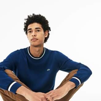 Lacoste Men's Crew Neck Contrast Accents Pima Cotton Jersey Sweater