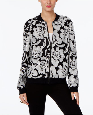 INC International Concepts Embroidered Bomber Jacket, Only at Macy's $129.50 thestylecure.com
