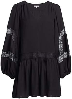 Elizabeth and James Leslie Georgette Lace-Trim Peasant Dress