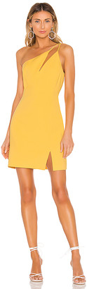 BCBGMAXAZRIA One Shoulder Cut Out Dress