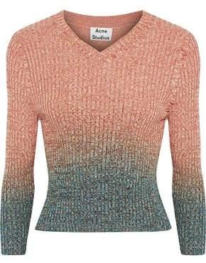 Acne Studios Riva Degradé Ribbed Cotton-Blend Sweater