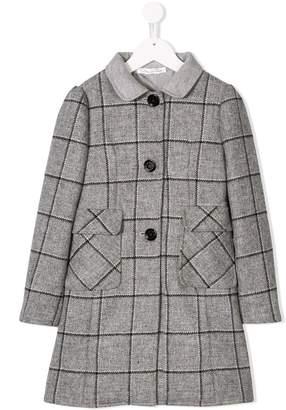 Oscar de la Renta Kids single breasted check coat