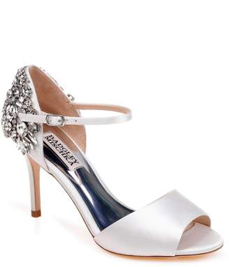 Badgley Mischka Harbor Crystal Embellished Open Toe Pump