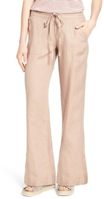 Women's Kut From The Kloth 'Garyson' Wide Leg Linen Pants $78 thestylecure.com