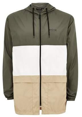 Topman Mens NICCE Khaki Panel Lightweight Jacket