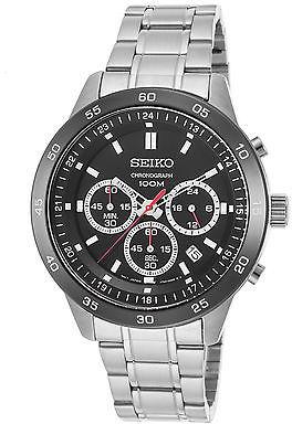 SeikoSeiko SKS527P1 Men's Neo Sport Chronograph Stainless Steel Black Dial SS