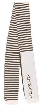 Armani Junior Boys' Stripe Knit Scarf