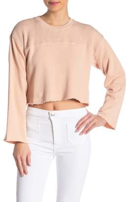 Current\u002FElliott The Acture Knit Cropped Pullover Sweater