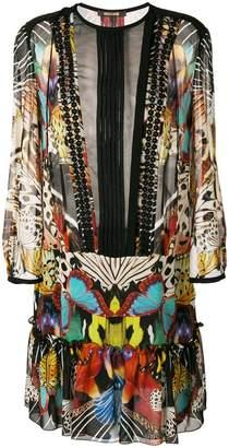 Roberto Cavalli butterfly print dress