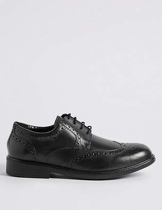 Marks and Spencer Extra Wide Leather Brogue Shoes with AirflexTM