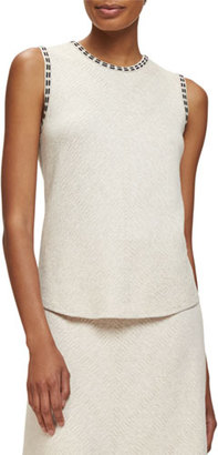 NIC+ZOE Double-Stitch Sleeveless Top $108 thestylecure.com