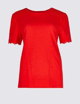 Marks and Spencer Pure Cotton Round Neck Short Sleeve T-Shirt