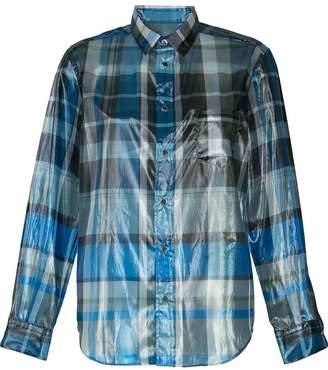 Toga foil plaid shirt