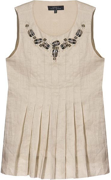 Robert Rodriguez Bisque Jeweled Top