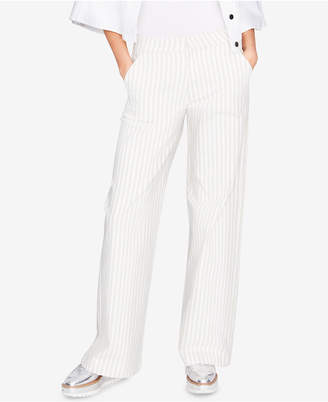 Rachel Roy Cotton Wide-Leg Trousers, Created for Macy's