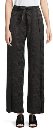 Veda Women's Floral Silk Wide-Leg Pants