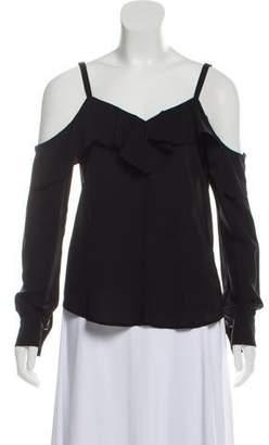 A.L.C. Silk Cold-Shoulder Blouse