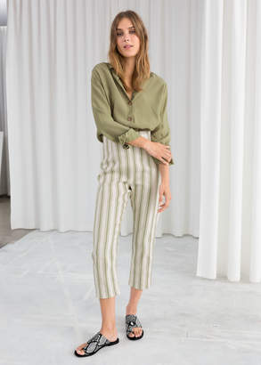 And other stories Linen Blend Cropped Pants