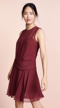 Theory Drape Flounce Mini Dress