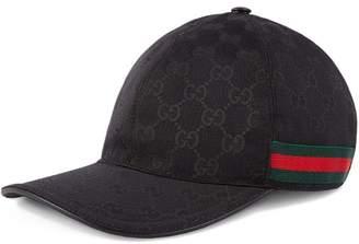 378609190f2 Gucci Original GG canvas baseball hat with Web