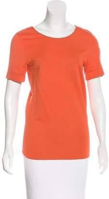 Reed Krakoff Short Sleeve Scoop Neck Top