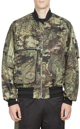 Givenchy Men's Camouflage Printed Bomber Jacket