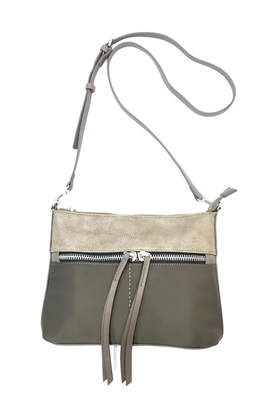 Sondra Roberts Convertible Crossbody Nylon with Nappa PU Trim