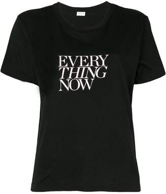 Saint Laurent slogan short-sleeve T-shirt