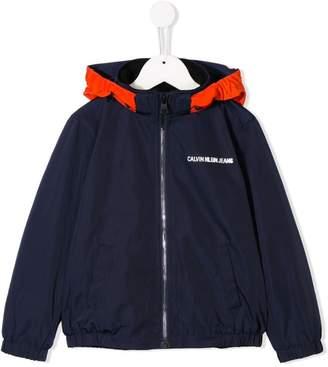 Calvin Klein Kids hooded lightweight jacket