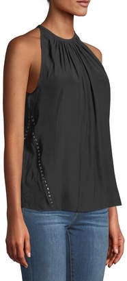 Ramy Brook Clarissa Halter Studded Top