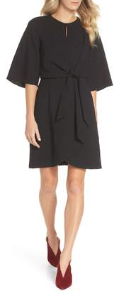 Tahari Tie Front Crepe Dress