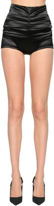 Dolce & Gabbana High Waist Stretch Raso Shorts