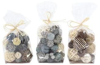 Highland Dunes OConnell Coastal Sola Balls 3 Piece Decorative Bag Set