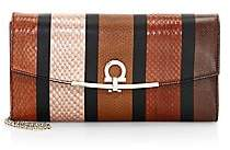 Salvatore Ferragamo Women's Gancini Patchwork Snakeskin & Leather Wallet-On-Chain