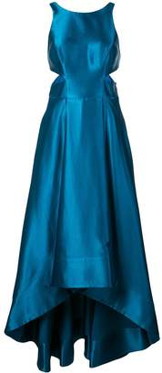Aidan Mattox flared gown with cut-outs