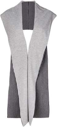 Reality Studio striped sleeveless cardigan