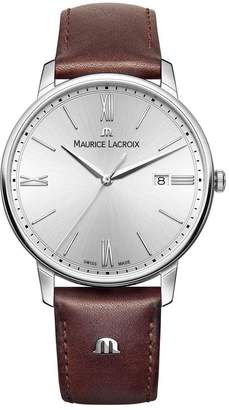 Maurice Lacroix Men's EL1118-SS001-110-1 Eliros Analog Display Quartz Brown Watch