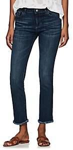 Dl 1961 Women's Sydney Instasculpt Straight Ankle Jeans - Blue Size 24