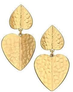 Kate Spade 12K Goldplated Hammered Drop Earrings