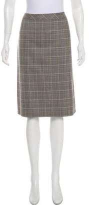Max Mara Wool Check Skirt