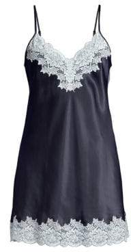 Ginia Lace-Trimmed Silk Chemise