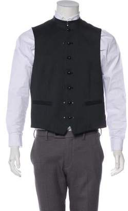 John Varvatos Satin-Panel Suit Vest w/ Tags