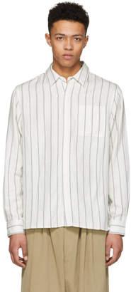 Saturdays NYC Ivory Mickey Stripe Shirt