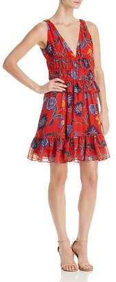 Rebecca Minkoff Lucille Flounced Floral-Print Dress