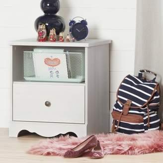 South Shore Caravell 1-Drawer Nightstand, White Wash