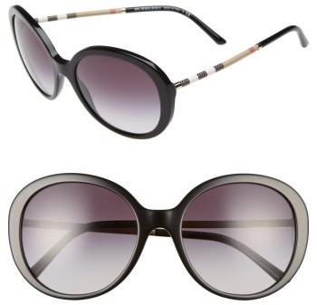 Women's Burberry 57Mm Sunglasses - Black
