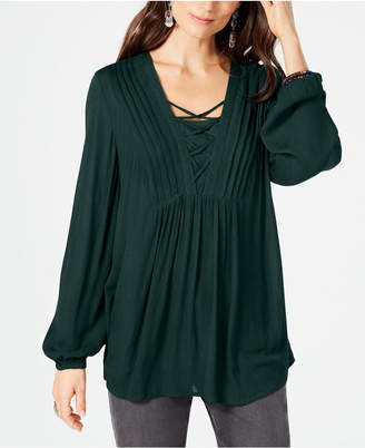 Style&Co. Style & Co Criss-Cross Top