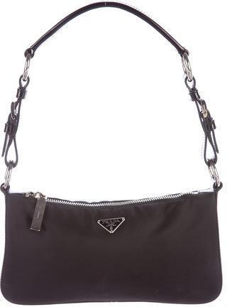 pradaPrada Tessuto Leather-Trimmed Shoulder Bag