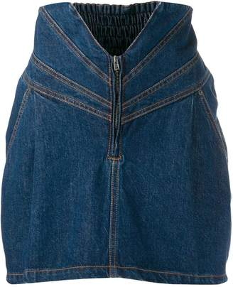 ATTICO high-waisted denim skirt