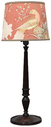 One Kings Lane Vintage Antique English Lamp with Custom Shade - Rose Victoria